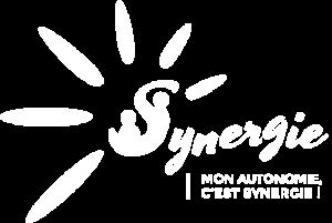 Logo Synergie monochrome blanc